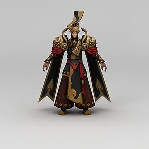 王者榮耀游戲男角色模型3d模型