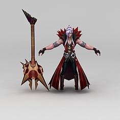 王者荣耀男子角色3D模型3d模型