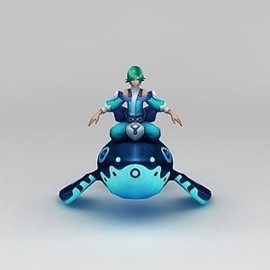 王者榮耀游戲男角色人物模型3d模型