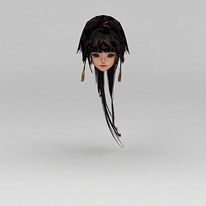 剑网三女子发型模型
