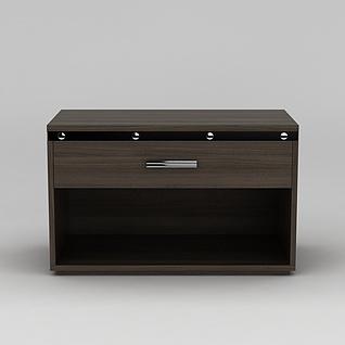 现代床头柜3d模型3d模型