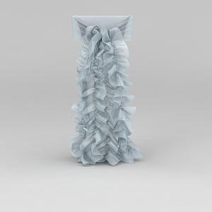 3d裝飾綢緞花紋模型