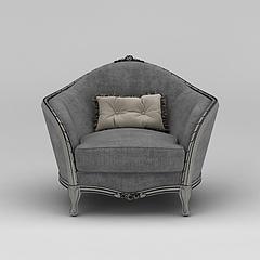 北欧布艺单人沙发模型3d模型