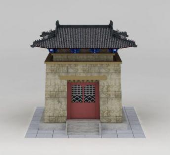 藏式庙宇城楼