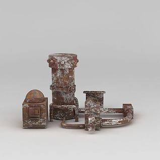 废旧锅炉3d模型