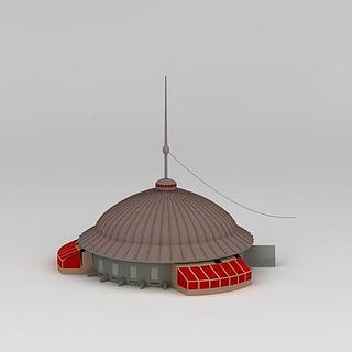 现代蒙古包3d模型