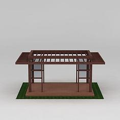 园林景区廊架花架凉亭3D模型3d模型