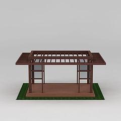 园林景区廊架花架凉亭模型3d模型