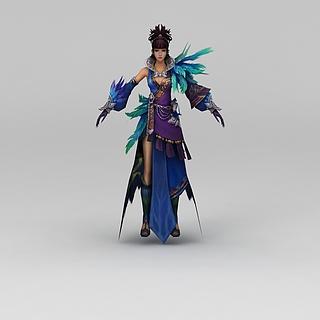 笑傲江湖游戏人物古装美女3d模型