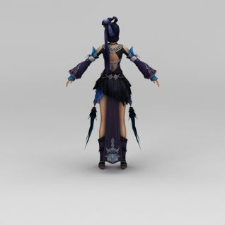 笑傲江湖游戏人物古代美女古人3d模型