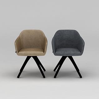 现代拼色休闲椅子3d模型