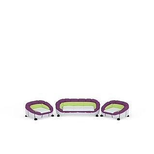 现代时尚造型沙发组合3d模型