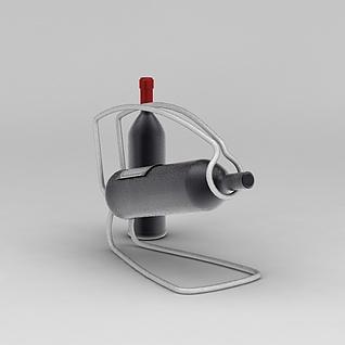 简易葡萄酒架3d模型