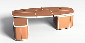多功能可变形桌子3d模型