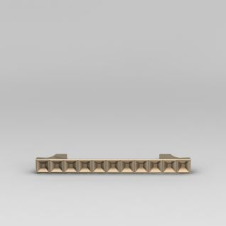 镀金时尚造形门把手3d模型