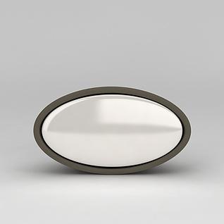 圆形扣门拉手3d模型