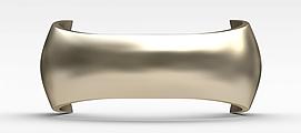 金色U形门拉手3d模型