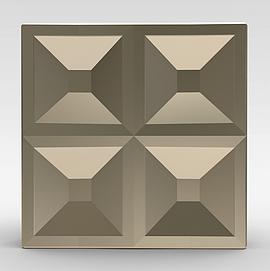 方形金色大门拉手3d模型