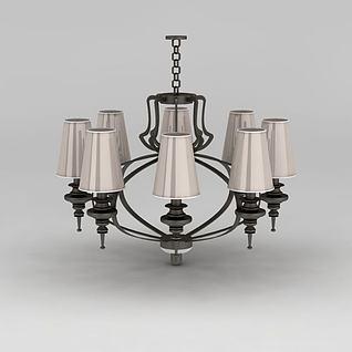 美式吊灯3d模型