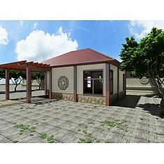 休闲茶室廊架3D模型3d模型