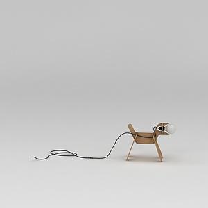 创意玩具狗室内灯模型
