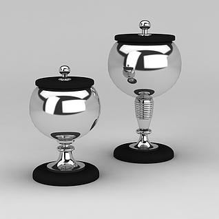 创意不锈刚调料瓶3d模型