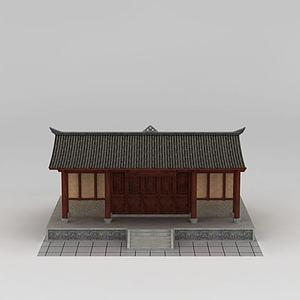 川西建筑模型3d模型