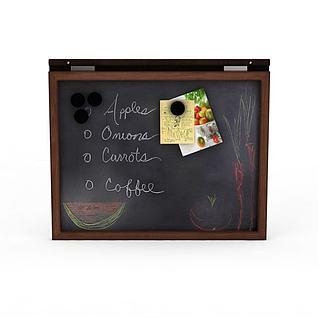 菜单小黑板3d模型