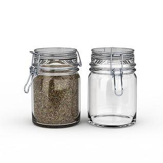 玻璃储物罐3d模型