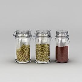 玻璃密封储物罐模型