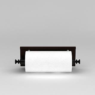 厨房纸巾架3d模型