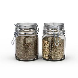玻璃密封杂粮罐模型