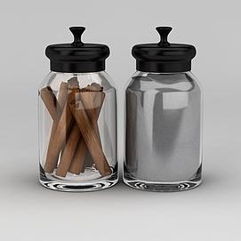 玻璃密封罐模型