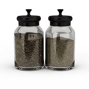 玻璃密封儲物罐模型