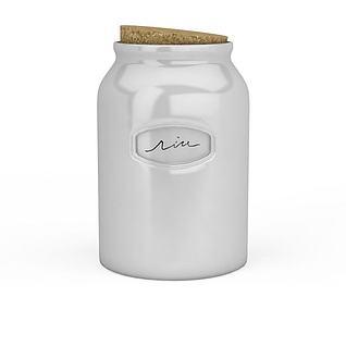 陶瓷木塞瓶3d模型