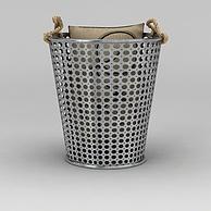 铁艺收纳桶3D模型3d模型