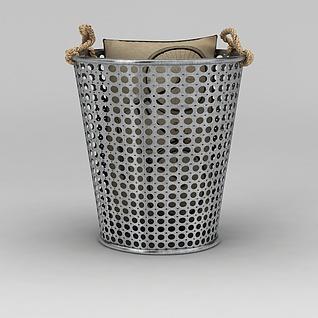 铁艺收纳桶3d模型