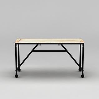 可移动办公桌3d模型3d模型