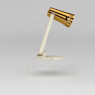 现代可折叠台灯3d模型