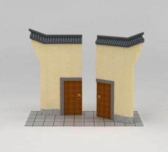 南方园林小品门楼
