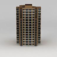 高层居民楼3D模型3d模型