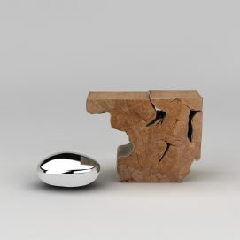 3d木墩模型
