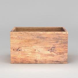 木质盒子模型