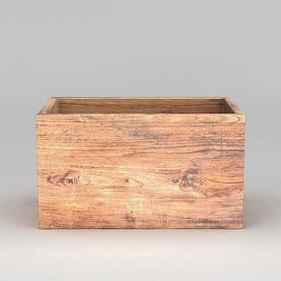 木质盒子3d模型