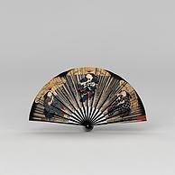 日式贴画装饰扇子3D模型3d模型