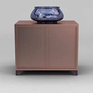 现代时尚陶瓷水盆模型