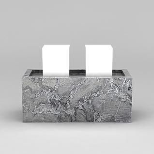 大理石砚台3d模型