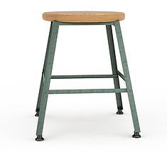 简约现代实木吧椅3D模型3d模型