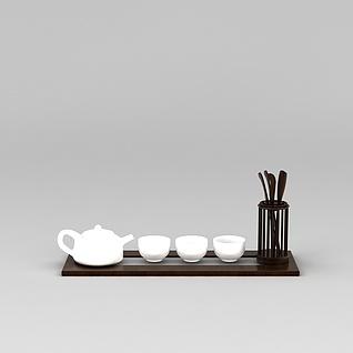 功夫茶具3d模型
