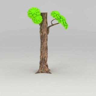 卡通树3d模型